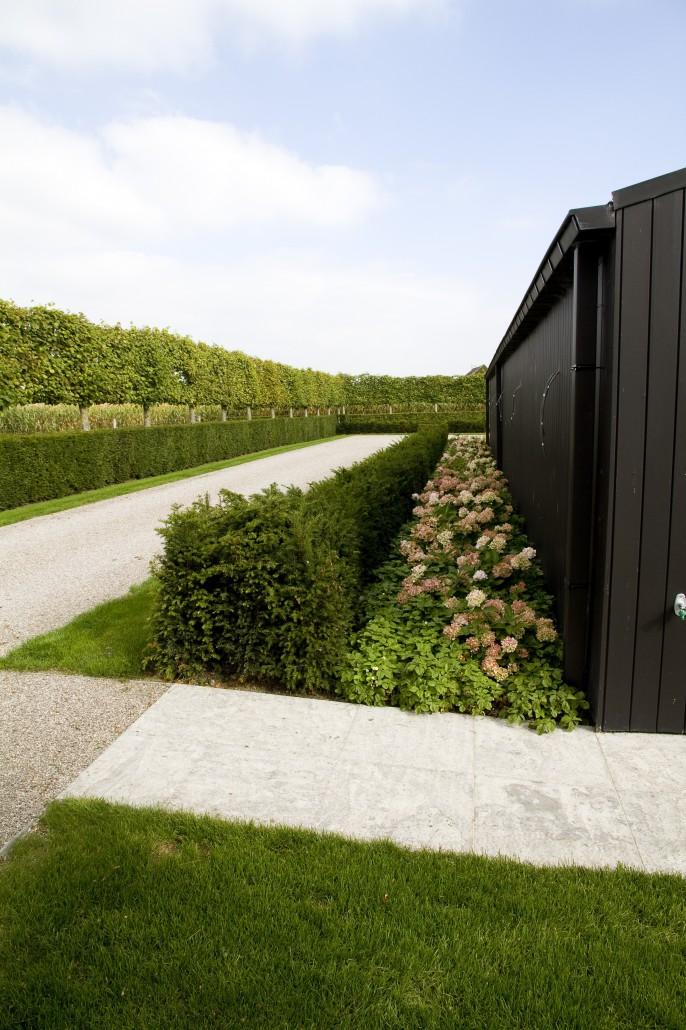 Landelijke tuin in boekhoute de jonghe eeklo - Tuin oprit plaat ...