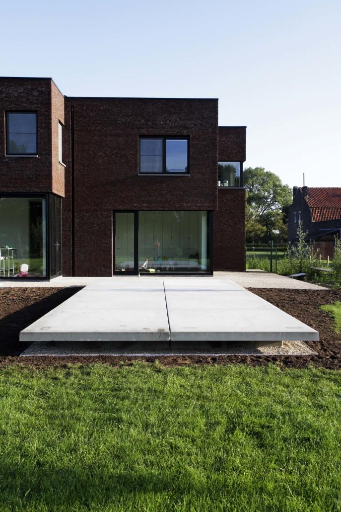 Terrassen bij moderne woningen de jonghe eeklo for Moderne terrassen