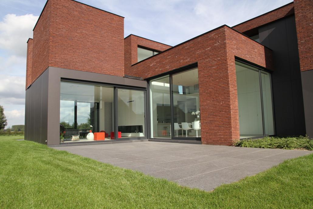 Terrassen bij moderne woningen de jonghe eeklo - Doen redelijk oprit grind ...