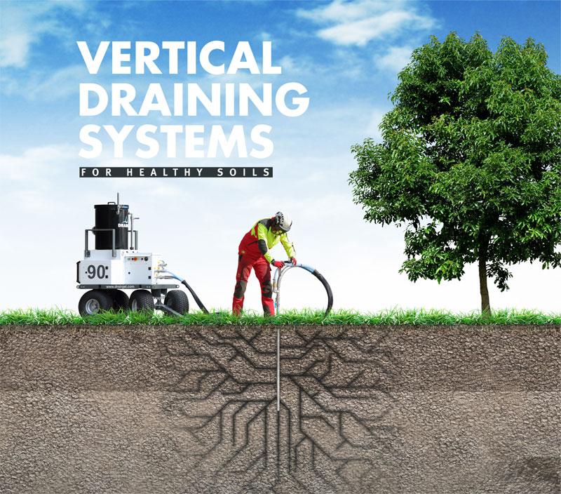 Voorkeur Duurzame verticale drainage voor tuinen en terreinen met FP18
